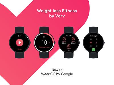 Weight loss fitness for Wear OS wear os uiux google wearos wearable smartwatch watch