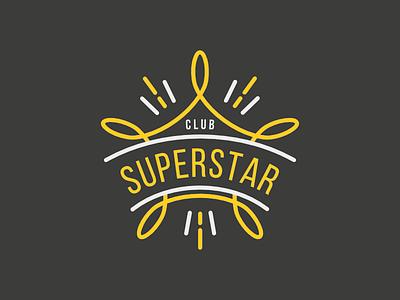 Superstar club star logo star club logo logo design logo
