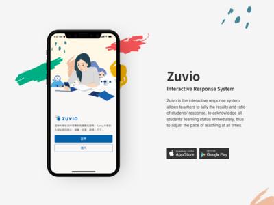 Zuvio Welcompage