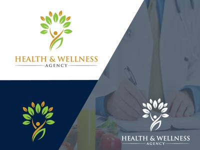 I will do professional nutrition  health  and yoga logo 3