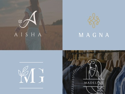 fashion wedding initials or monogram  premium logo 1 flat logo icon vector typography design illustrator minimal illustration branding
