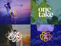 fashion wedding initials or monogram  premium logo icon animation vector logo design illustrator typography minimal illustration branding