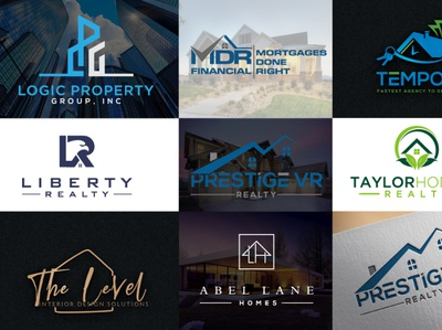 real estate property construction logo designs