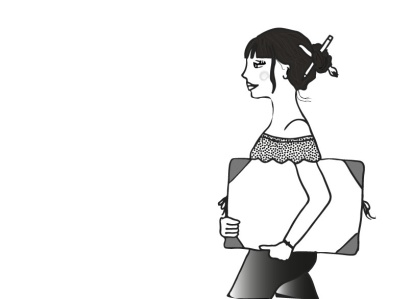 femme dessinatrice