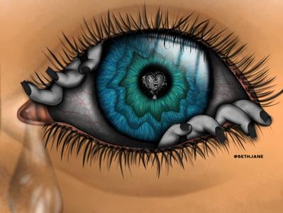 Creepy Eye Digital Art