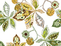 Branch chestnut decorative seamless pattern.