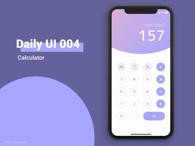 Daily UI 004 - Calculator calculator app calculator design calculator ui calculator ux design ui design daily ui application dailyui design interface ui