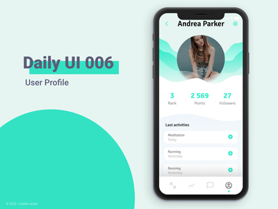 Daily UI 006 - User Profile user profile vector app ui design daily ui dailyui application interface ui design