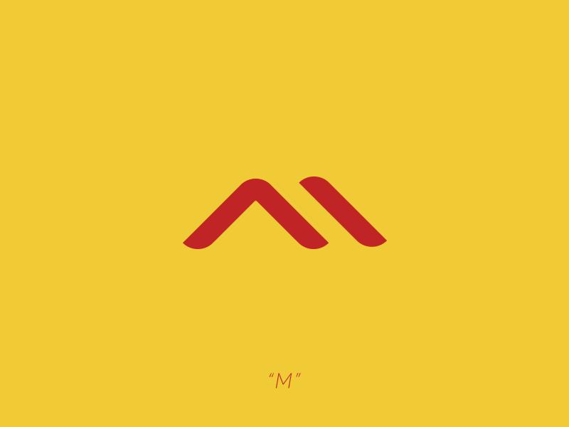 M // Concept Logo photoshop logo lettering letter illustrator design branding b alphabet