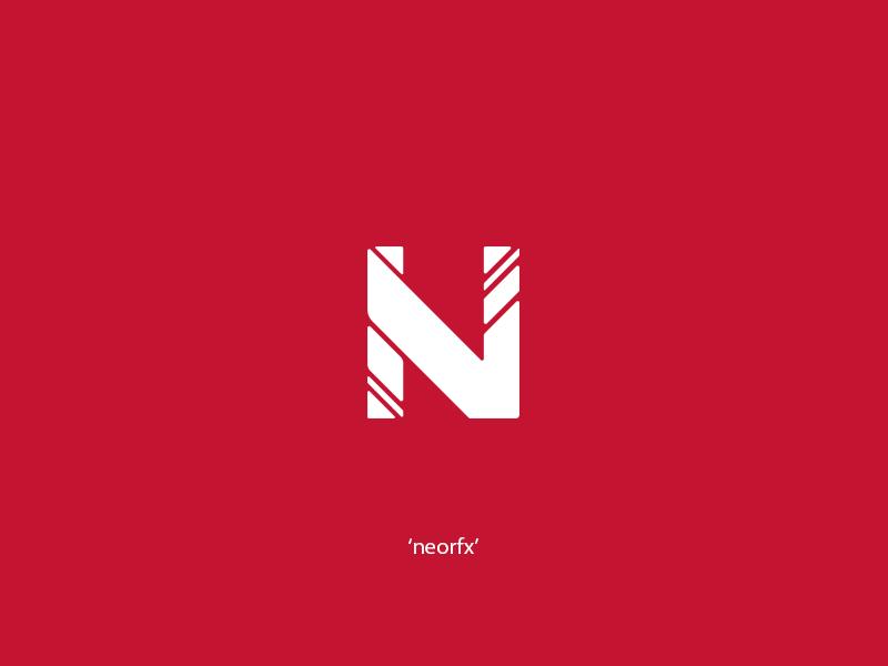N // Concept Logo For NeorFX white red branding design logo design adobe photoshop illustrator concept logo