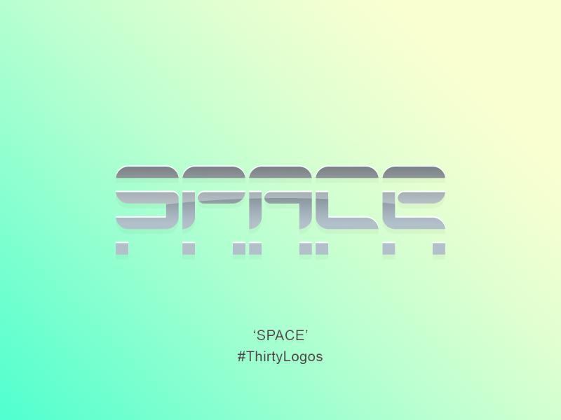 Space // #ThirtyLogos Challenge thirtylogos white cream blue logo design adobe photoshop illustrator concept logo