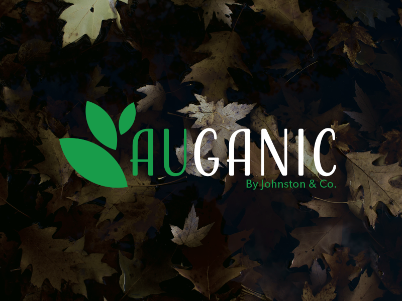 AuGanic // Comissioned Logo Design au natural organic natural white cream blue logo design adobe photoshop illustrator concept logo