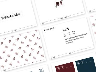 K&M Charte Graphique graphiste freelance branding brand id charte karlandmax chaussures shoes bordeaux