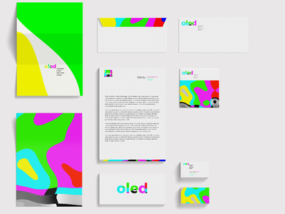 OLED studio freelance bordeaux logotype brand branding oled logo