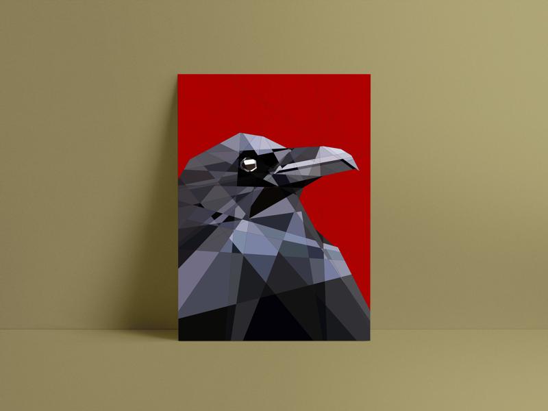 Raven Print.. ❤️ brand design graphic print illustration