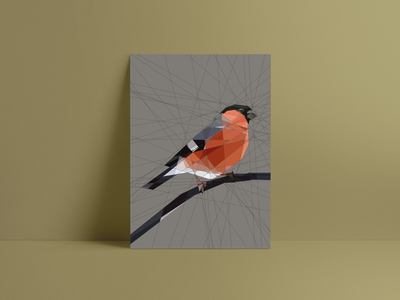 Bullfinch print - available in my shop