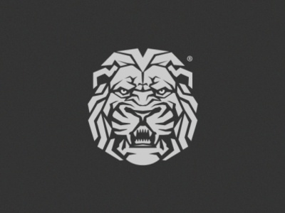 lion illustration branding classic animal forsale strong bold gym brand design head logo lion