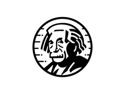 Einstein design illustration brand scientist physics science faces potrait logo albert einstein einstein
