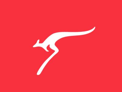 kangaroo flat animal speed premium logo branding brand forsale sports branding sport kangaroo