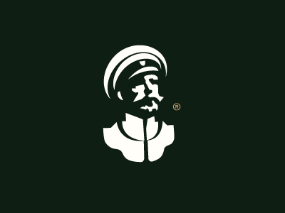 General simple vector force face forsale military colonel army logo general