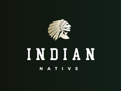 Indian native vector forsale mark face america logotype chief people native indian american