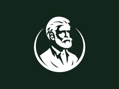 Gentleman branding bearded man illustration eddarqaoui oldman design brand elegant classic forsale logo man beard face gentleman