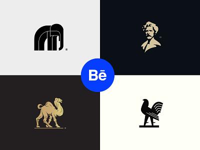 Logos #03 animal brandidentity face logotype eddarqaoui branding illustration classic forsale logoset logofolio project behance logos