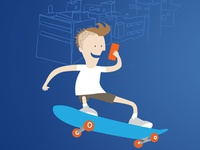 apping on skateboard