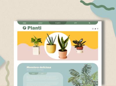 Planti webpage