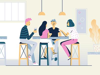 Hipster cafe communication meet community friends coffee break tea coffee cafe loft hipster