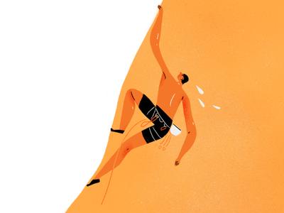 climber cartoon character sport doodle sketch drawing illustration rockclimbing climbing heat
