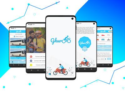 Riding App (Ghuroo) ux ui app rider ride ridesharing rideshare riding