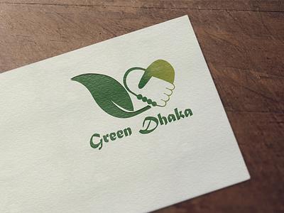 Green Dhaka Logo branding design logo illustration