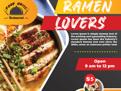 Restaurant Flyer Demo branding design
