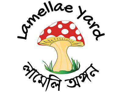 Online Mushroom Business icon logo illustration design branding