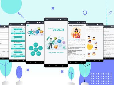 Covid-19 App (Cure from Covid-19) branding app ui design