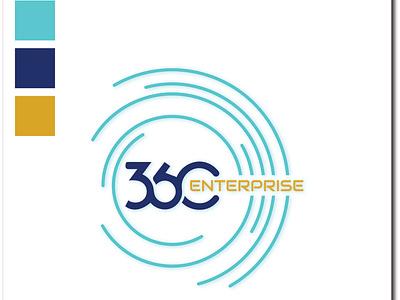 Company Logo (360 Enterprise) icon logo design branding