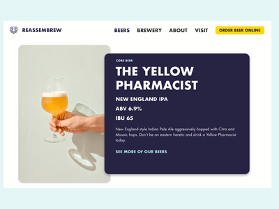 Brewery Product Page Concept concept ui