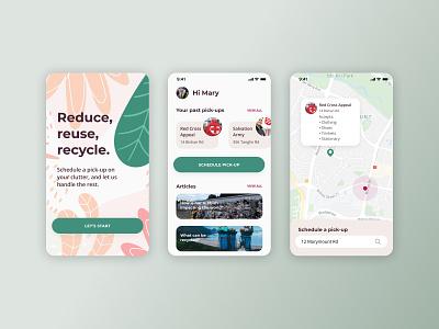 Recycle Pick-Up Concept recycle uiux uiuxdesign uidesign design ui