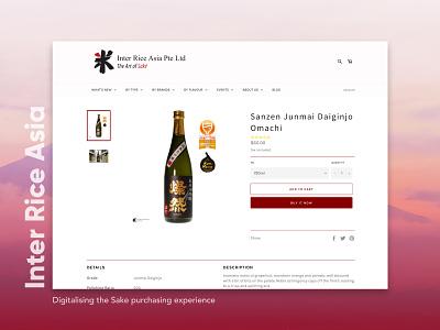 Inter Rice Asia - An E-commerce Sake Website sake ecommerce ux uiux uiuxdesign uidesign ui