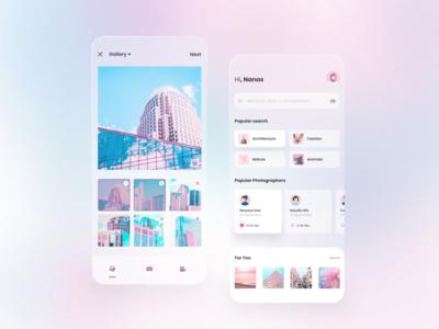 Photograph Mobile App webdesign landingpage ui mobile ui mobile design mobile app design mobile app uidesign design