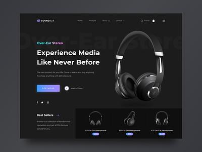 Headphones Website Concept website concept e-comerce ui webdesign landingpage uidesign design