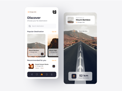 AR Travel App artificial intelligence uiux mobile ui ui mobile design mobile app mobile app design uidesign design
