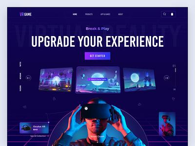 VR Store Website Concept vr mobile ui mobile design ui mobile app mobile app design uidesign design