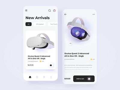 VR Store Mobile App vr virtualreality mobile ui mobile design mobile app ui mobile app design uidesign design