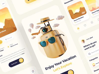 Travel Mobile App vacationapp travelapp mobile ui mobile design mobile app ui mobile app design uidesign design