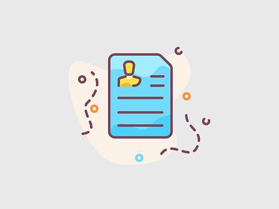 CV Resume - icon illustration cv design working worker work persona business person document paper cv resume cv template resume cv resume cv