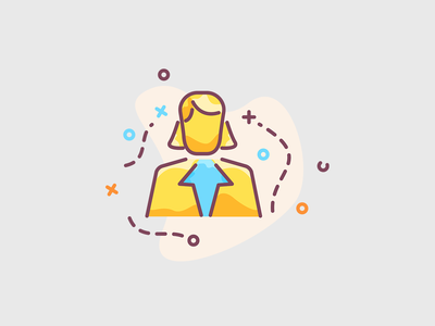Business woman - gold creative illustration illustration icon app icon design cto ceo investor invest shingle gown woman business gold icon