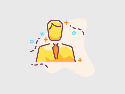 Business man illustration concept ui flat icons icon illustration avatar profile guy man business man businessman founder officer chef cto ceo business
