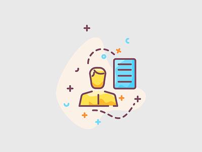 Job applicant - CV resume illustration meeting meet briefing brief agency creative workout designer worker applicant resume cv application invite job listing job board jobs work job